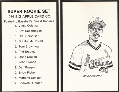Vince Coleman Price List Supercollector Catalog